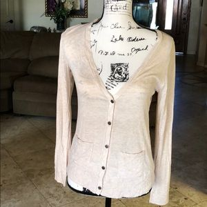 Sweaters - VNeck Top With Flower Pattern See Through Back
